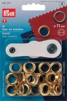 Ösen Set - 11 mm - rostfrei - Goldfarben
