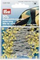 Prym Glaskopf-Stecknadeln - Gelb - 20 g