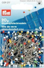 Prym - Glaskopf-Stecknadeln -  Bunt - 20 g