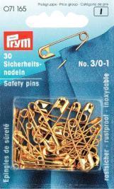 Prym - Sicherheitsnadeln - Messing-Gold - 12 Stück