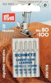 Prym - Nähmaschinen-Ledernadeln - 130/705H 80-100