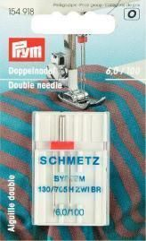 Prym - Doppelnadel - 130/705H 100/6 mm