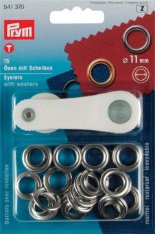 Ösen-Set - 11 mm - rostfrei - Silber