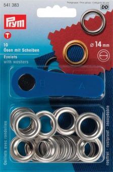 Ösen-Set - 14 mm - rostfrei - Silber
