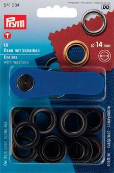 Ösen -Set - 14 mm - rostfrei - Brüniert