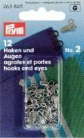 Federhaken - Silber - 12 Stück
