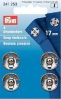 Prym - 4 Annäh-Druckknöpfe - Silber - 17 mm