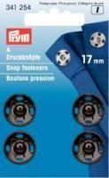 Prym - 4 Annäh-Druckknöpfe - Schwarz - 17 mm