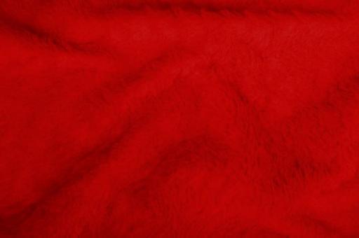 Kuschelfell-Imitat - Uni Rot