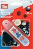 Prym - 10 Anorak-Druckknöpfe - Brüniert - 15 mm