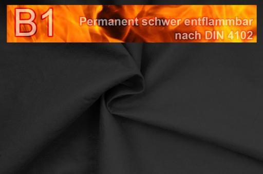 Filz-Stoff - perm. schwer entflammbar - 320 cm - Schwarz