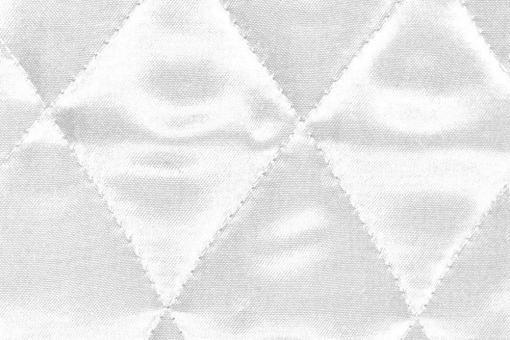Satin-Watte-Stoff - gesteppt Weiß
