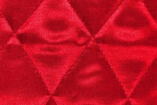 Satin-Watte-Stoff - gesteppt Rot