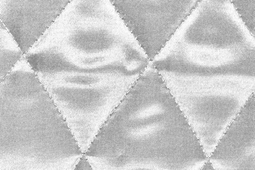 Satin-Watte-Stoff - gesteppt Silber