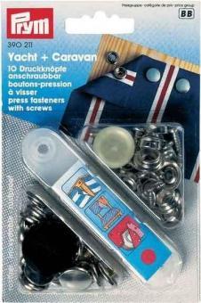 Druckknopf zum Anschrauben - Yacht und Caravan