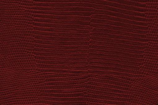 Echtleder - Nubuk -  Schlangenleder-Prägung Rot