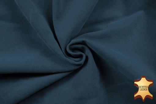 Echtleder Stück Velours -  Rocky Mountain Nachtblau