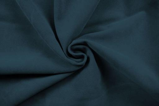 Echtleder Stück Velours -  Rocky Mountain Stahlblau