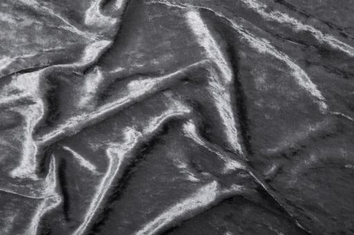 Pannesamt-Stoff - Basic Grau
