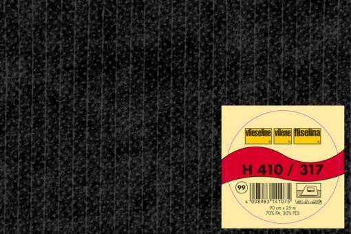 Bügeleinlage H410 - Schwarz