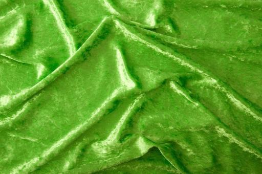 Pannesamt-Stoff - Basic Hellgrün