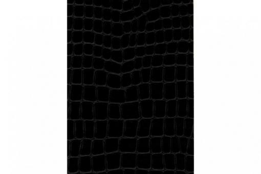 Leder-Imitat Waterproof - Riesenschlange Schwarz