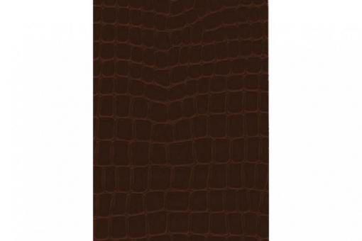 Leder-Imitat Waterproof - Riesenschlange Kaffeebraun
