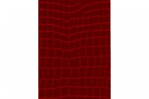 Leder-Imitat Waterproof - Riesenschlange Rotbraun