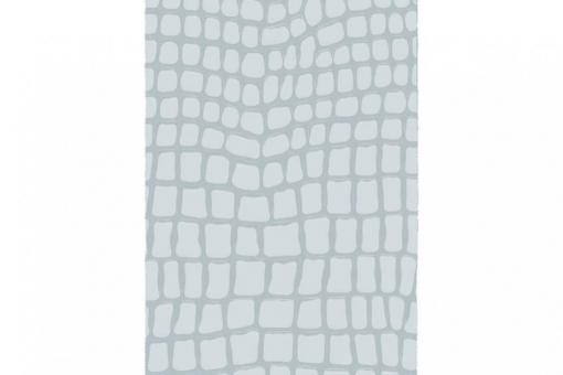 Leder-Imitat Waterproof - Riesenschlange Silbergrau