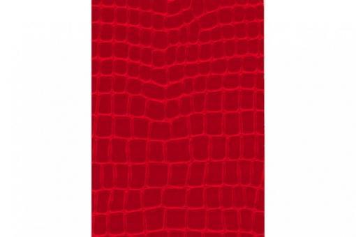 Leder-Imitat Waterproof - Riesenschlange Rot