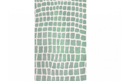 Leder-Imitat Waterproof - Riesenschlange Vintage Grün/Weiß