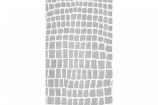 Leder-Imitat Waterproof - Riesenschlange Vintage Hellgrau/Weiß