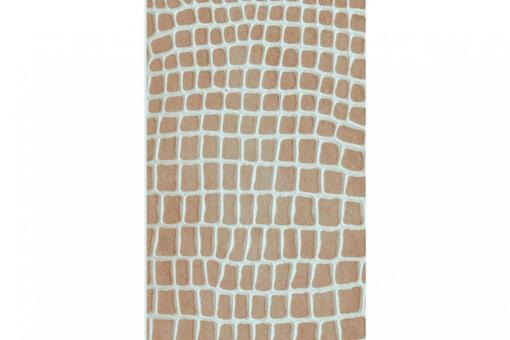 Leder-Imitat Waterproof - Riesenschlange Vintage Sand/Silber