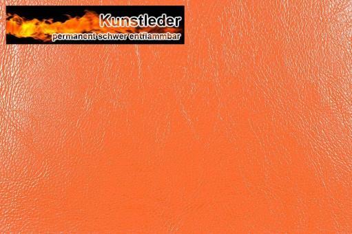 Kunstleder - Ocean - Nappa Orange