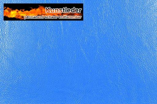 Kunstleder - Ocean - Nappa Blau