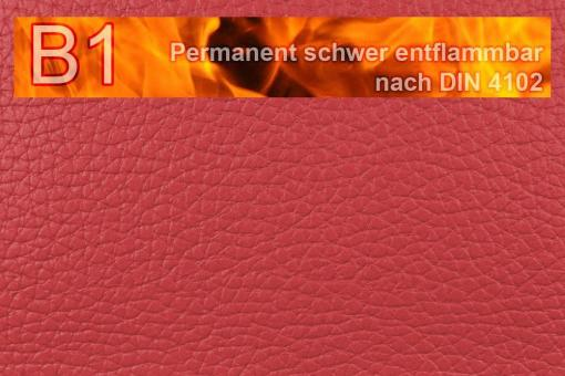Kunstleder Medical - Büffel-Nappa - permanent schwer entflammbar Rot