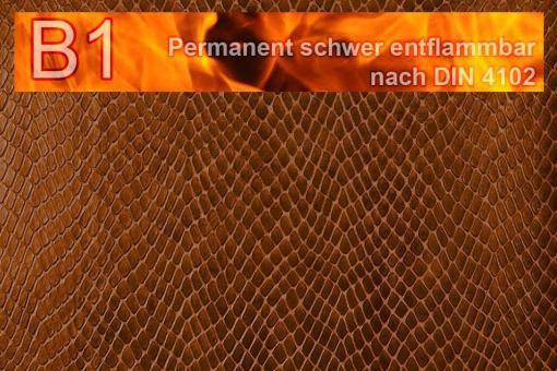 Leder-Imitat Profi Plus - Schlange Kupfer