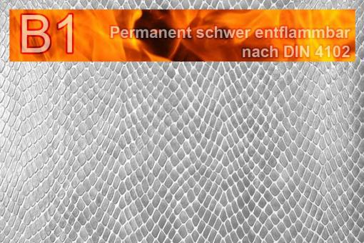 Leder-Imitat Profi Plus - Schlange Silber