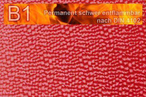 Kunstleder Safety - Techno - permanent schwer entflammbar Rot