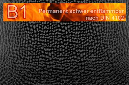 Kunstleder Safety - Techno - permanent schwer entflammbar Schwarz