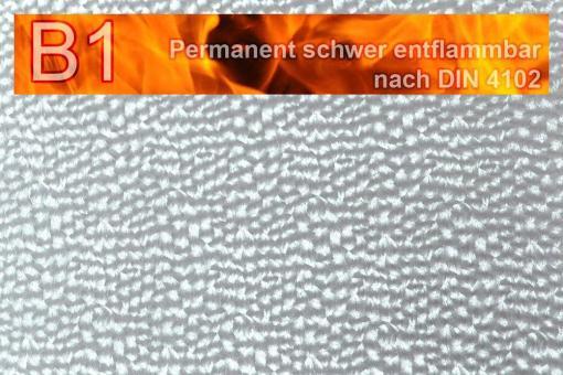 Kunstleder Safety - Techno - permanent schwer entflammbar Silber