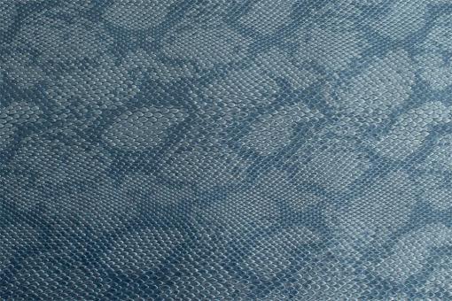 Leder-Imitat Waterproof - Boa Stahlblau