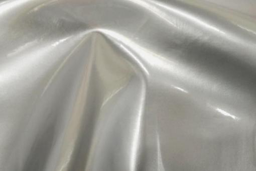 Lackleder Profi - Superstretch Silber Metallic