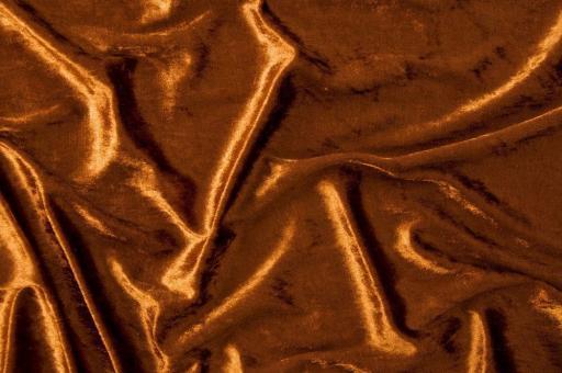 Pannesamt-Stoff - Basic Kupfer