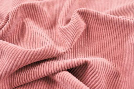Möbelstoff Cord-Samt - Longlife Rosa
