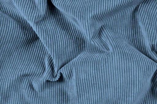 Möbelstoff Cord-Samt - Longlife Jeansblau