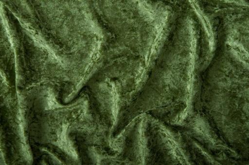 Pannesamt-Stoff - Basic Oliv