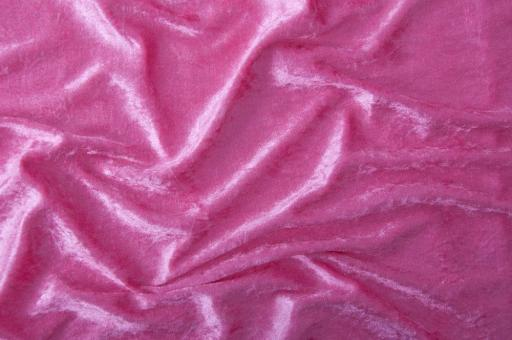 Pannesamt-Stoff - Basic Pink
