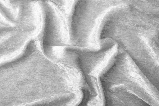 Pannesamt-Stoff - Basic Silber