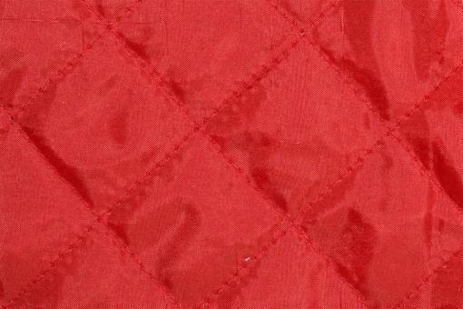 Taft-Watte-Stoff - gesteppt Rot